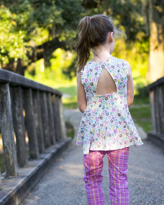Paisley's Open Back Peplum Top + Dress | The Simple Life Pattern Company