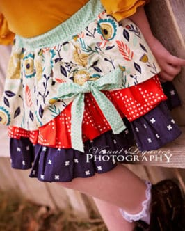 Pepper's Peekaboo Ruffle Skirt | The Simple Life Pattern Company