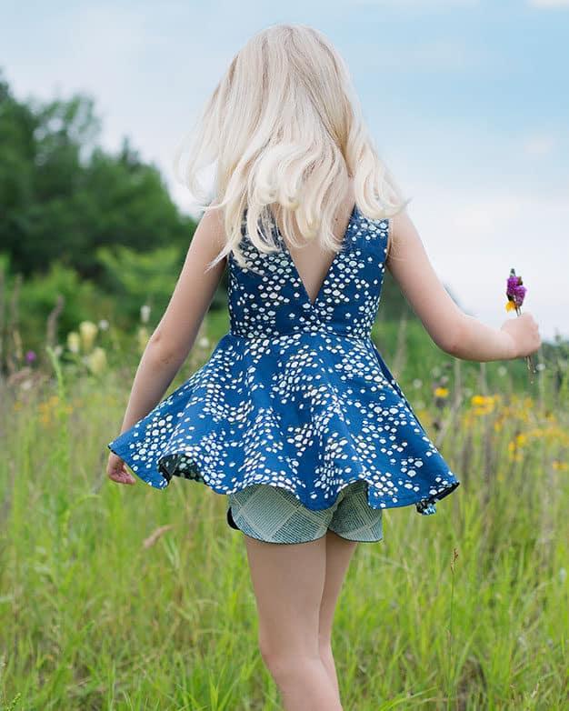 Ayda's V Back Peplum Top + Dress | The Simple Life Pattern Company