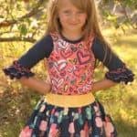 Cheyenne's Ruffle t-shirt | The Simple Life Pattern Company
