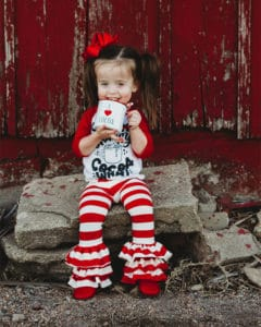 Chloe's Ruffle Leggings, Capris & Shorties | The Simple Life Company | Girl's Sewing Pattern Easy