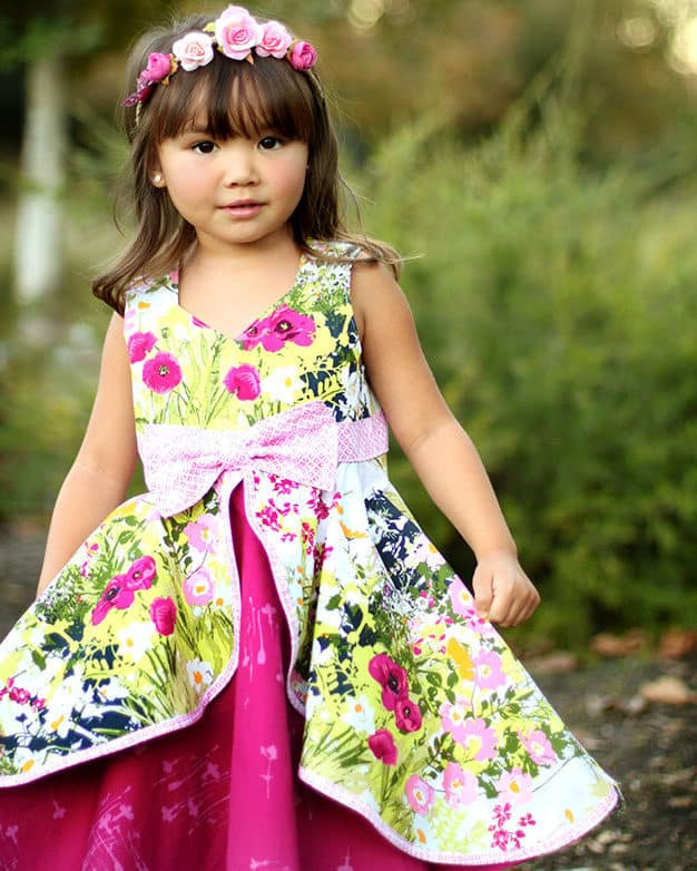Kinley's Cascading Flounce Top + Dress   The Simple Life Pattern Company