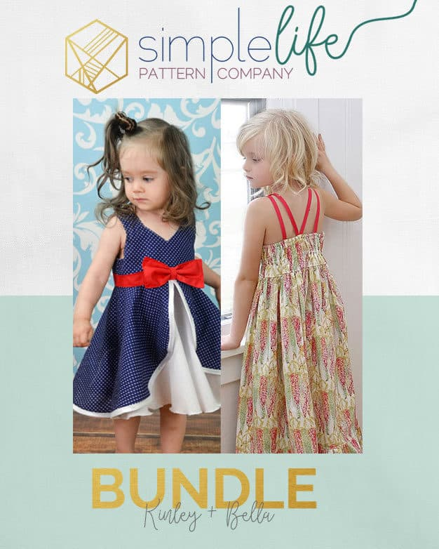 Bundle: Kinley + Bella   Dress   The Simple Life Pattern Company
