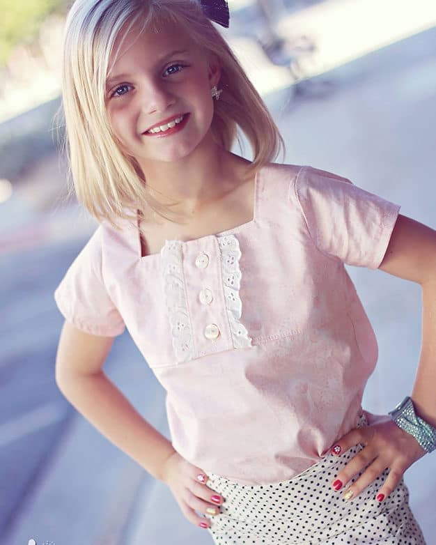 Ruby's Ruffle A-line top + Dress | The Simple Life Pattern Company