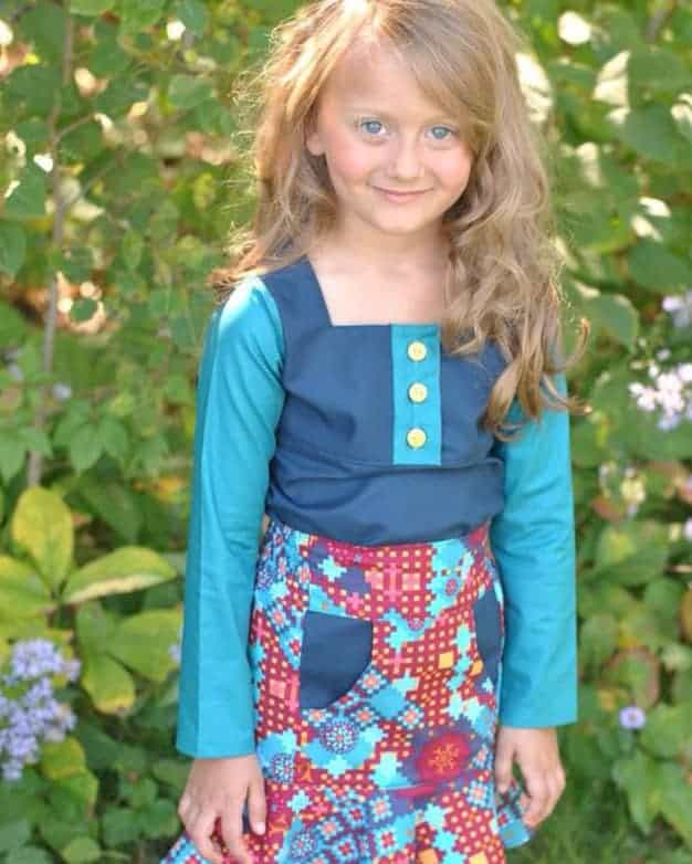 Ruby\'s Ruffle A-line Top & Dress | The Simple Life Pattern Company