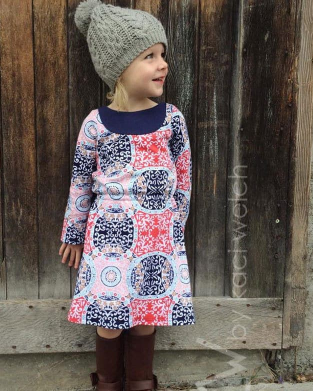 Saige\'s Boatneck Knit Dress | The Simple Life Pattern Company