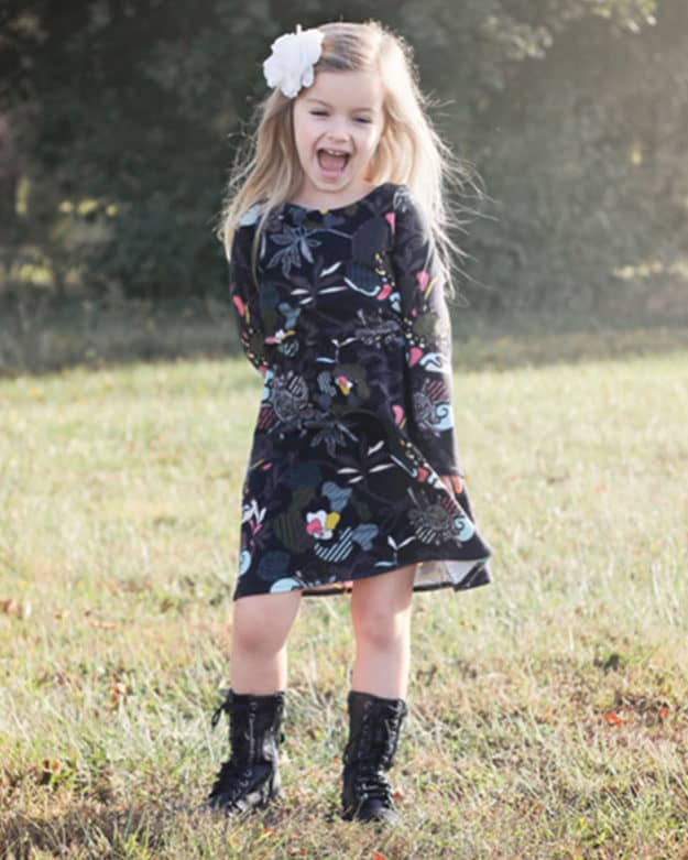 Saige's Boatneck Knit Dress | The Simple Life Pattern Company