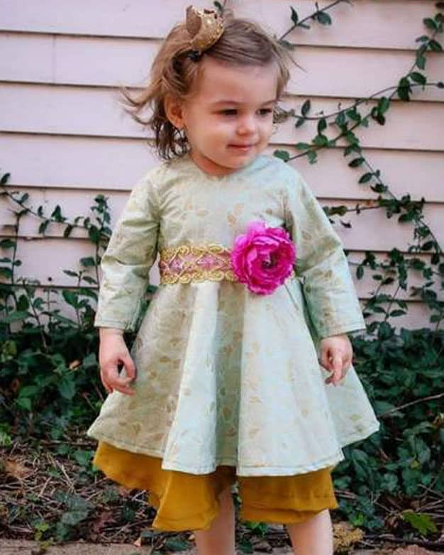 Baby Ayda's V Back Peplum Top + Dress   The Simple Life Pattern Company