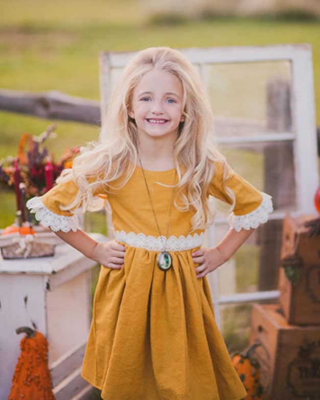 Girls Sleeve add-on Baby sizes | The Simple Life Pattern Company