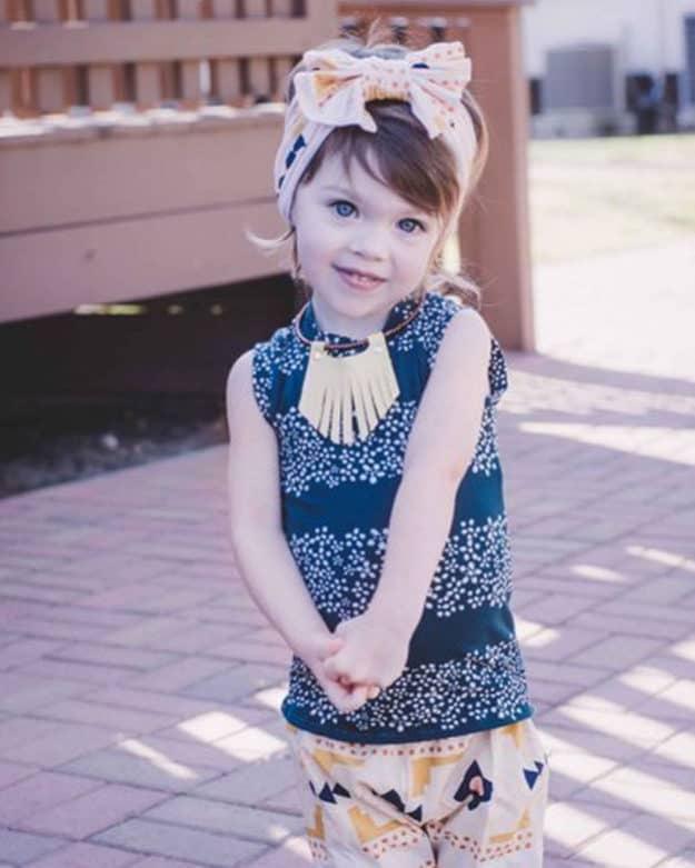 Baby Cheyenne Ruffle t-Shirt | The Simple Life Pattern Company