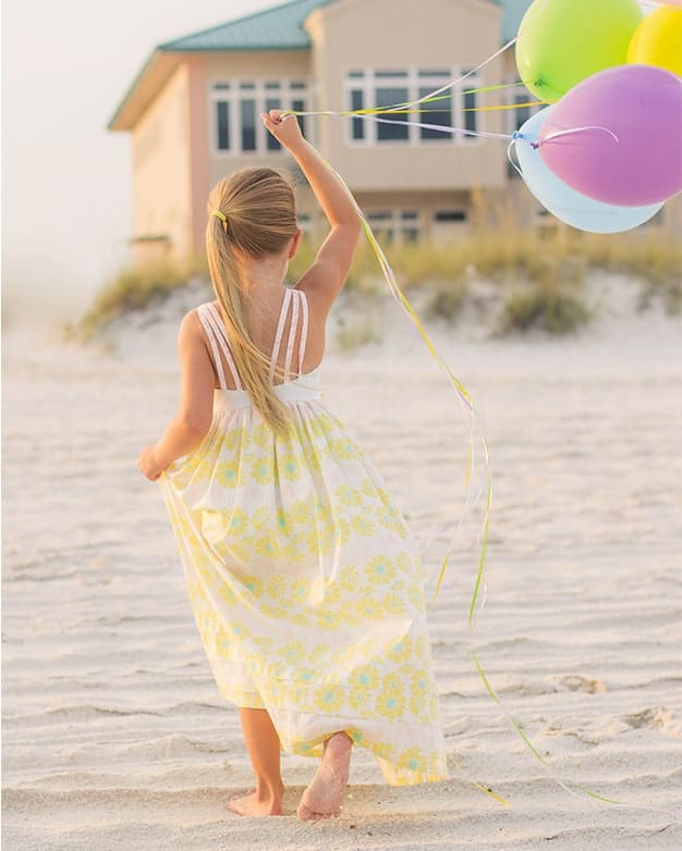 lexi's strappy back top dress and maxi summer pleated skirt hem open back girls spring beach party dress. pdf sewing pattern girls