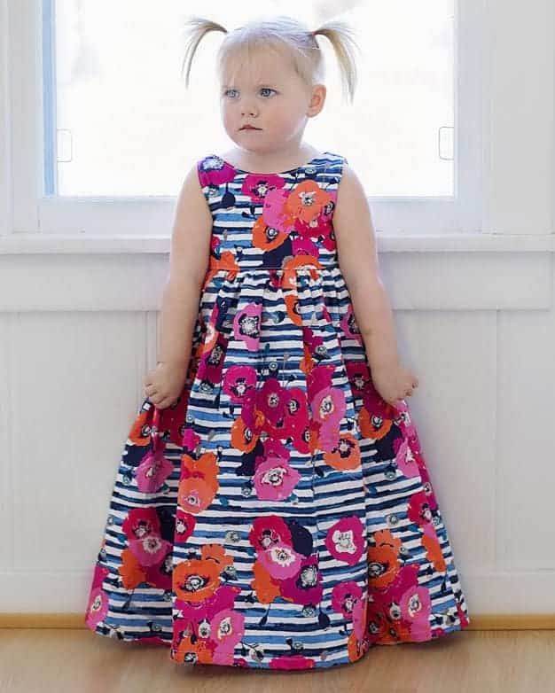 Maxi dress pattern for toddlers