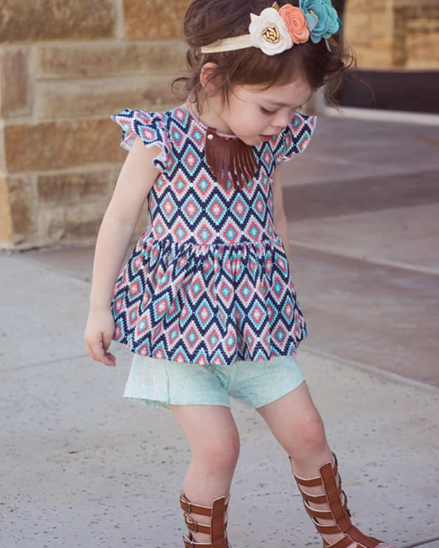 Baby Adelyn Scoop Back Top + Dress | The Simple Life Pattern Company