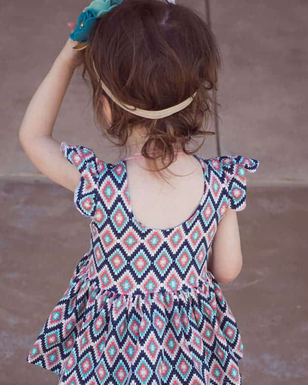 Baby Adelyns Scoop Back Top Dress The Simple Life Pattern Company