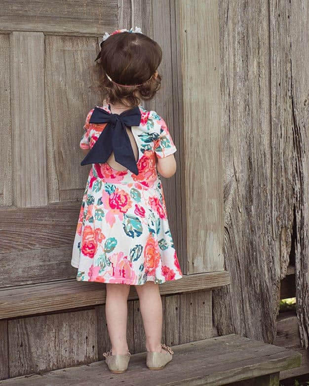 7d9edadc3d227 Baby Adelyn's Scoop Back Top & Dress | PDF sewing pattern for Baby sizses  NB- 18/24 months.