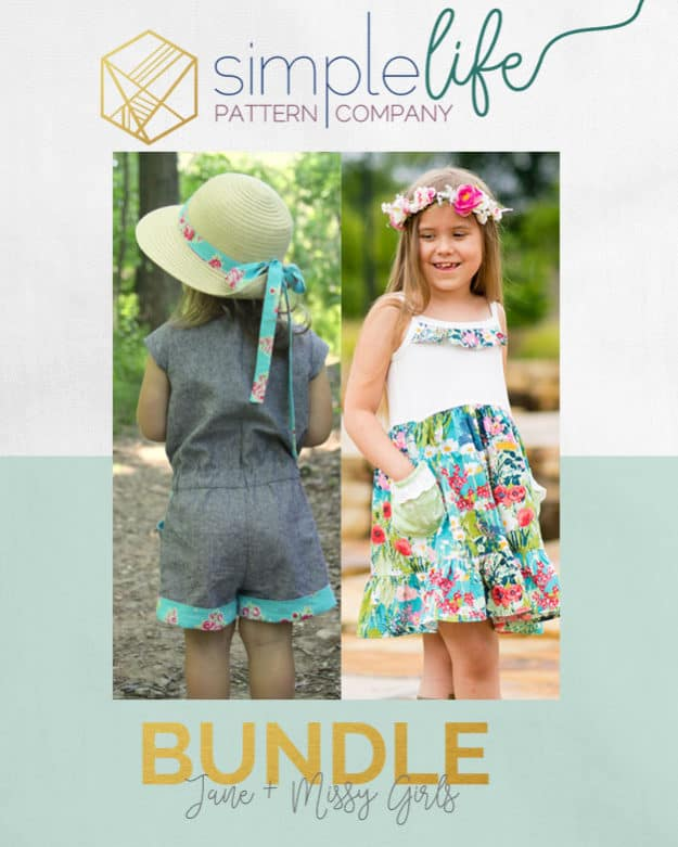 Jane + Missy Girls Bundle | the SImple Life Pattern Company