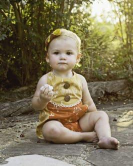 Baby Reagan | Bib Romper | The Simple Life Pattern Company