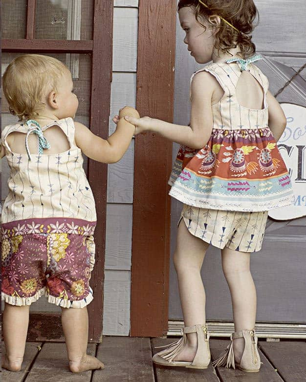 Baby Tammy\'s Tulip & Ruffle Shorts | The Simple Life Pattern Company