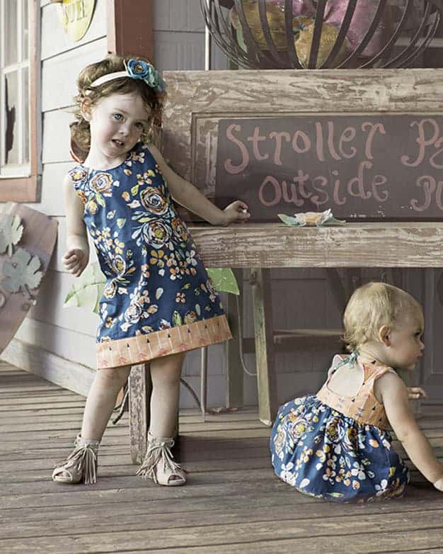 Taylor Shift top and dress | The Simple Life Pattern Company Sheath dress a line top large keyhole back open tie back top shirt dress fall winter spring summer dress with sleeves tank top classy woven pdf sewing pattern babies baby girls tween empire bodice gathered skirt