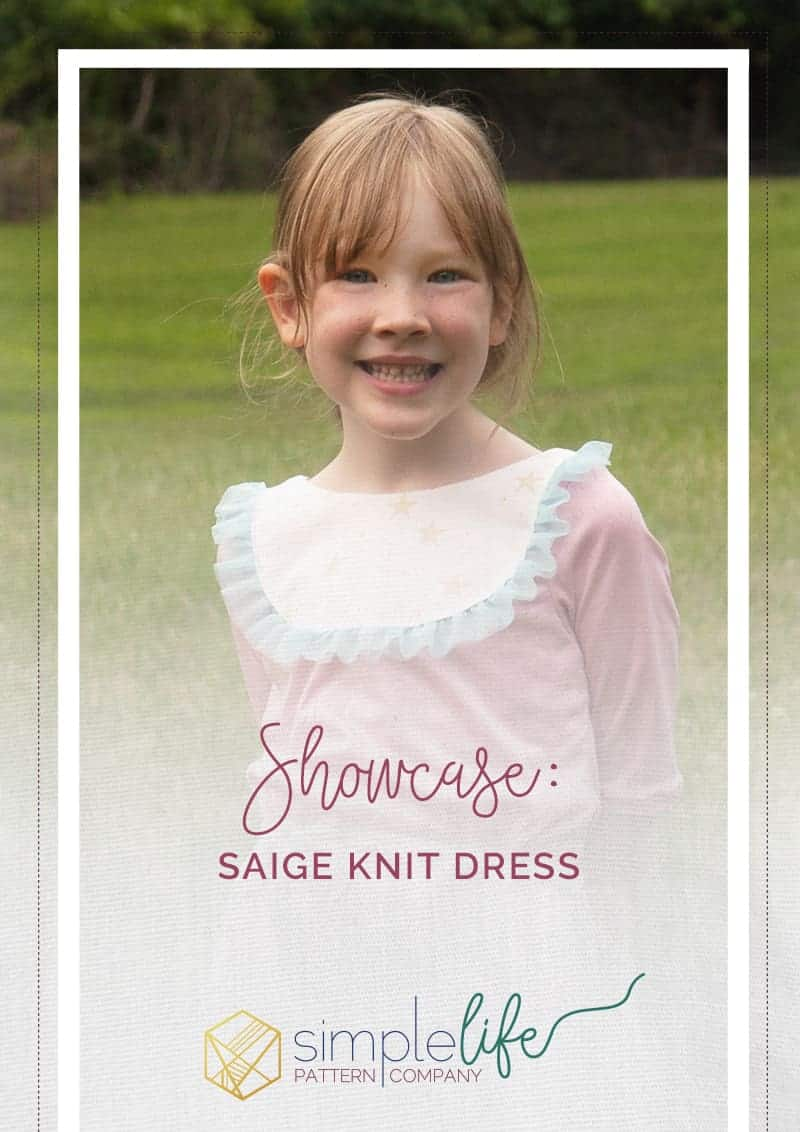 Showcase Saige Knit Dress The Simple Life Pattern Company