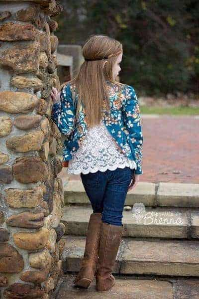 Braxton's Blazer. PDF sewing patterns for girls sizes 2t-12