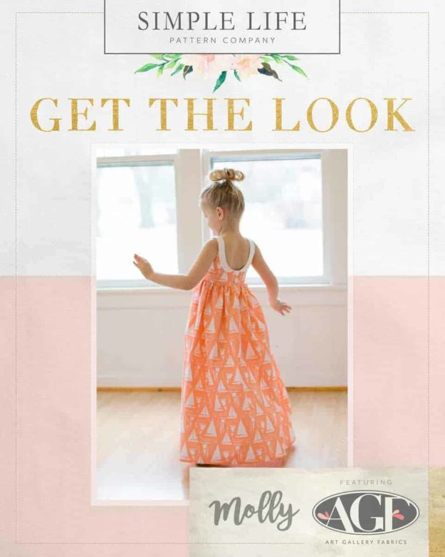 GET THE LOOK - Molly's Top, Dress OR Maxi. 2t-12. Coastline - Sailcloth Sunset