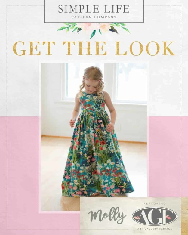 GET THE LOOK - Molly's Top, Dress OR Maxi. 2t-12. Lavish - Garden Rich