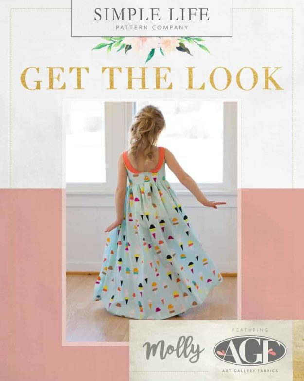 GET THE LOOK - Molly's Top, Dress OR Maxi. 2t-12. Boardwalk - Ice Cream