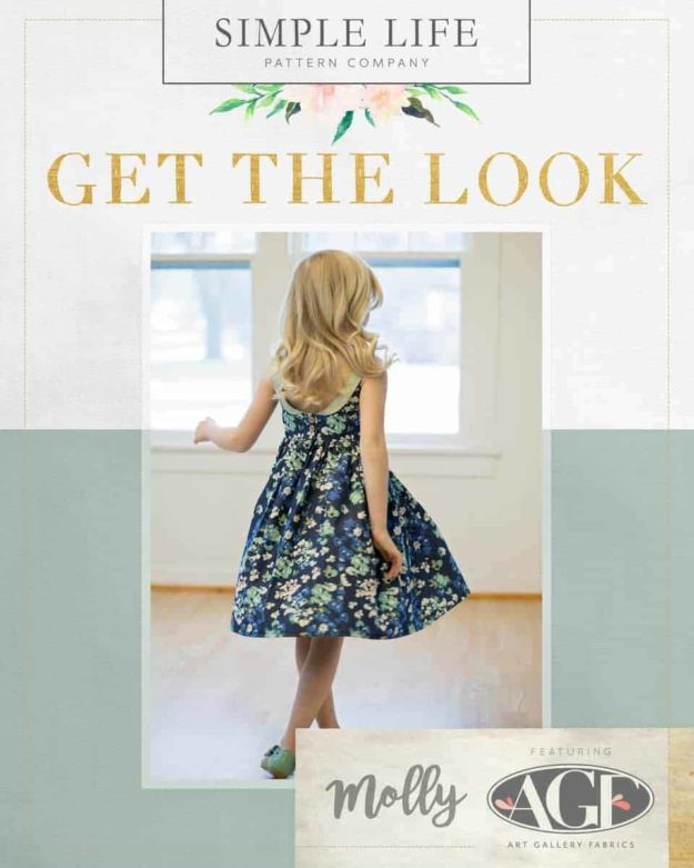 GET THE LOOK - Molly's Top, Dress OR Maxi. 2t-12. Denim- Painterly Wash