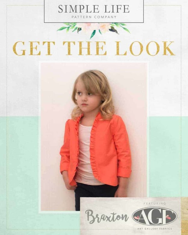 GET THE LOOK - Braxton's Blaxer sizes 2t-12. Pure Elements Solid Coral Reef