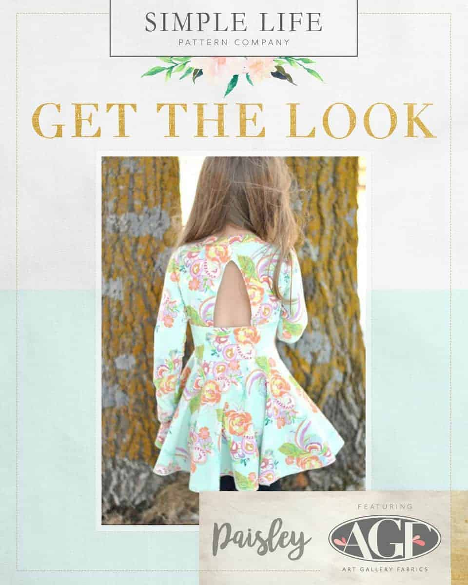 GET THE LOOK - Paisley's Peplum Top OR Dress. 2t-12. Petal & Plume Knit