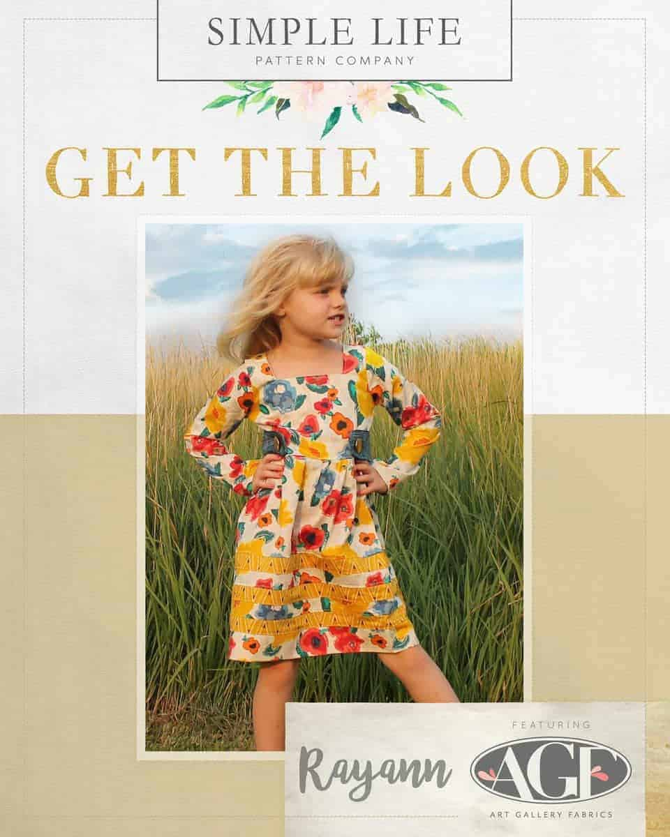 GET THE LOOK - Rayann's Retro Top OR Dress sizes 2t-12. Artisan