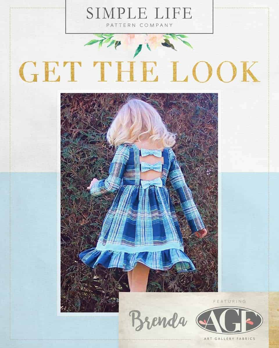 GET THE LOOK - Brenda's Bow Back Top OR Dress sizes 2t-12. Dare Plaid