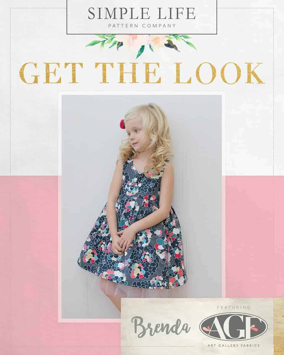 GET THE LOOK - Brenda's Bow Back Top OR Dress sizes 2t-12. Dare Pop Art