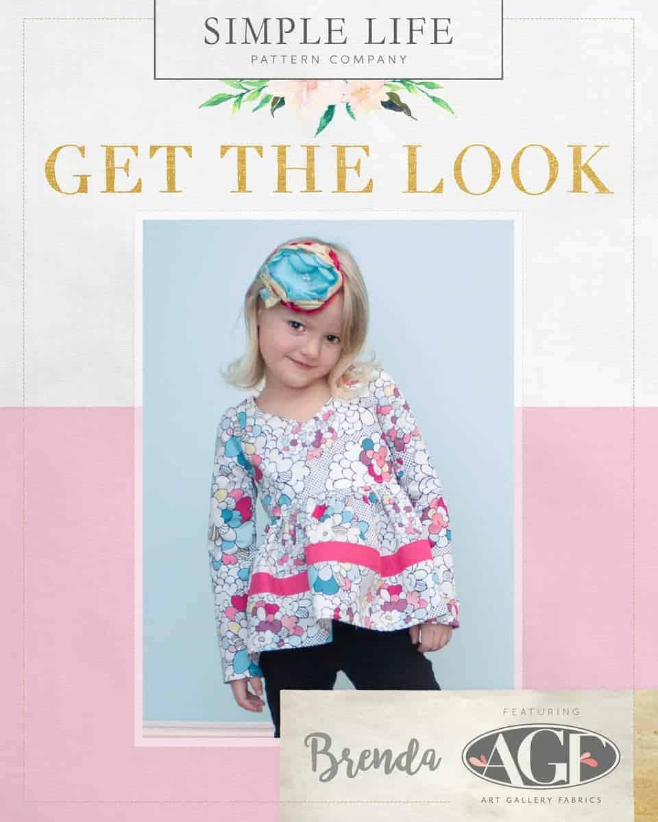 GET THE LOOK - Brenda's Bow Back Top OR Dress sizes 2t-12. Dare White Pop Art