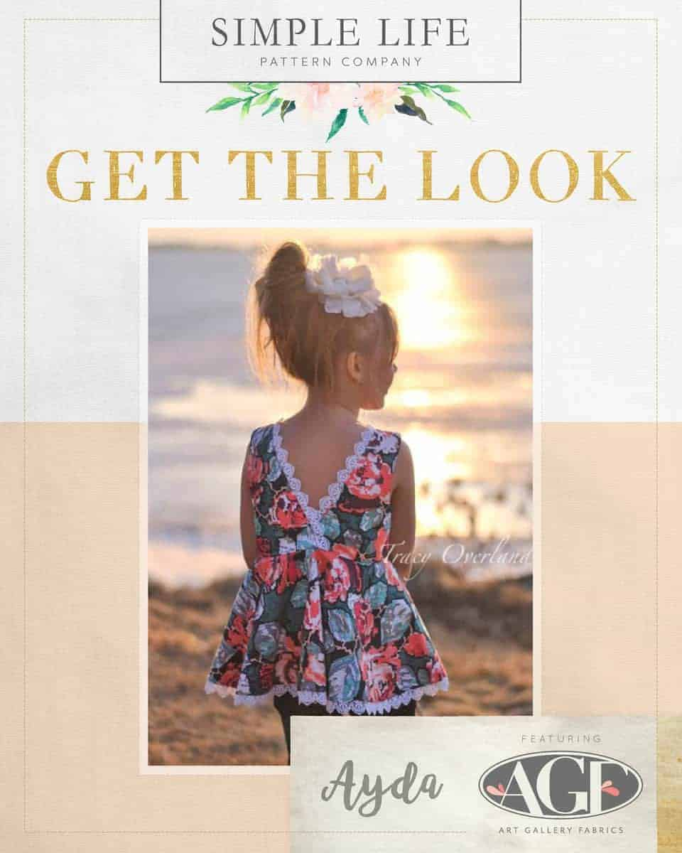 GET THE LOOK - Ayda's V Back Peplum Top or dress. Recollection