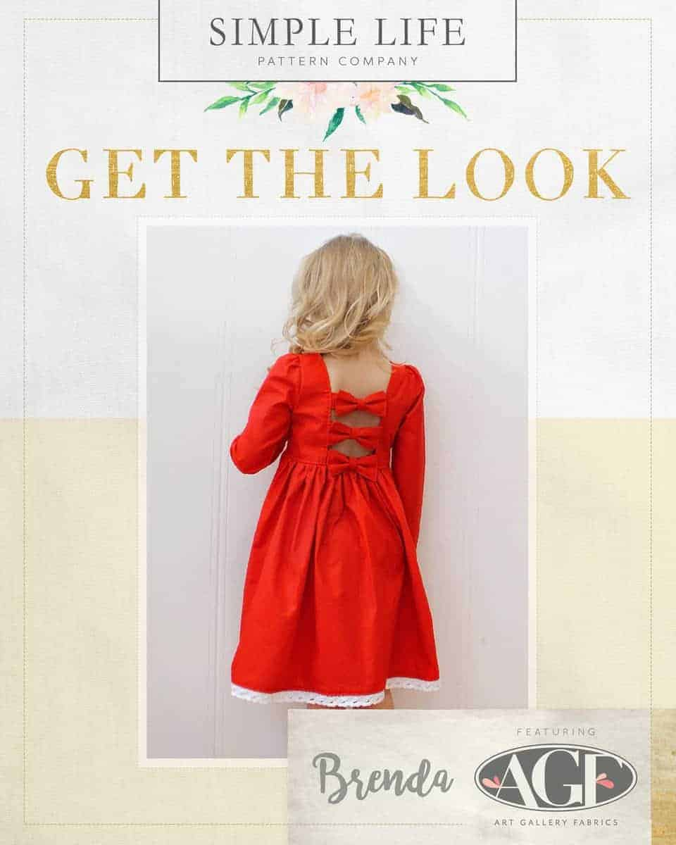 GET THE LOOK - Brenda's Bow Back Top OR Dress sizes 2t-12. London red