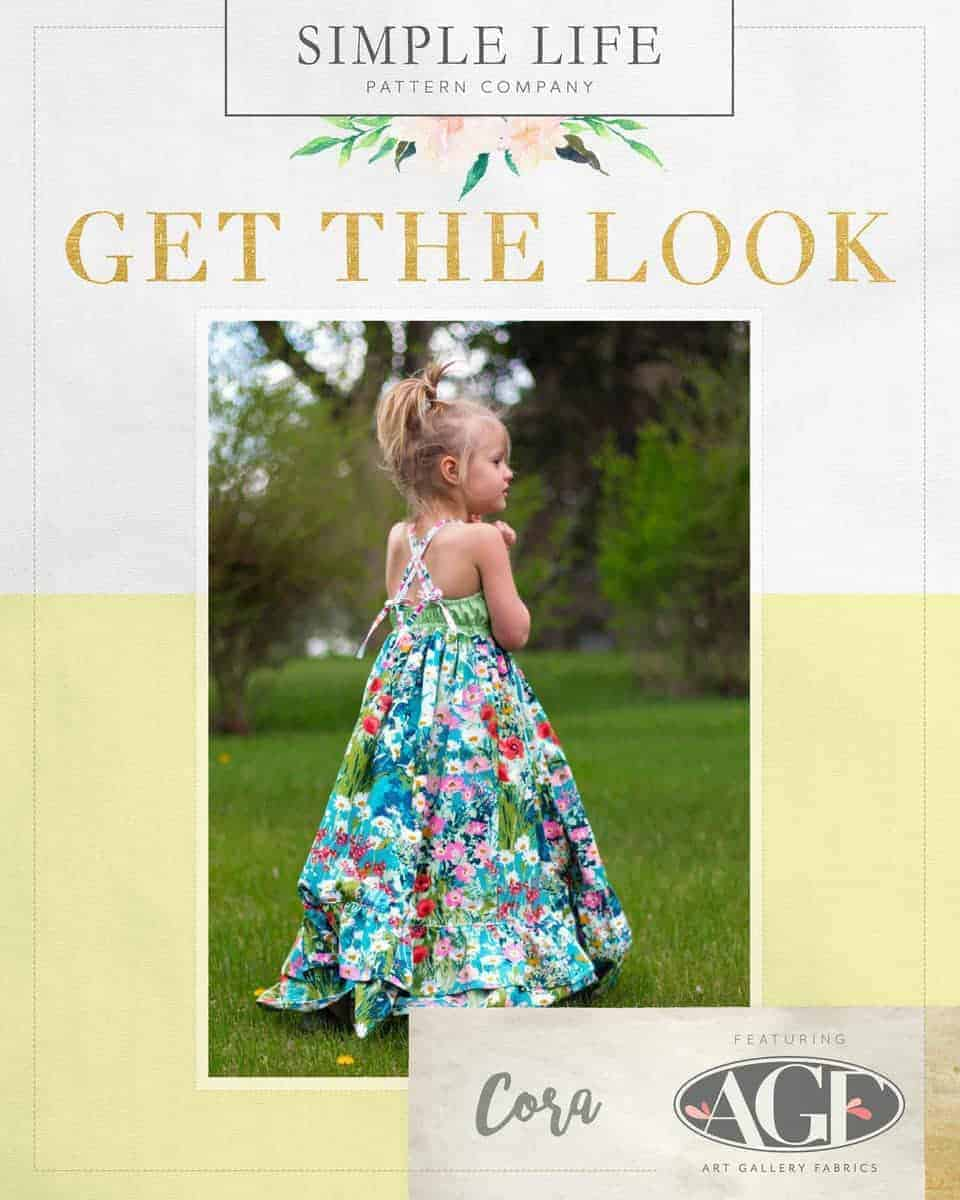 GET THE LOOK - Cora's Strappy Back Top, Dress OR Maxi. 2t-12. Lavish