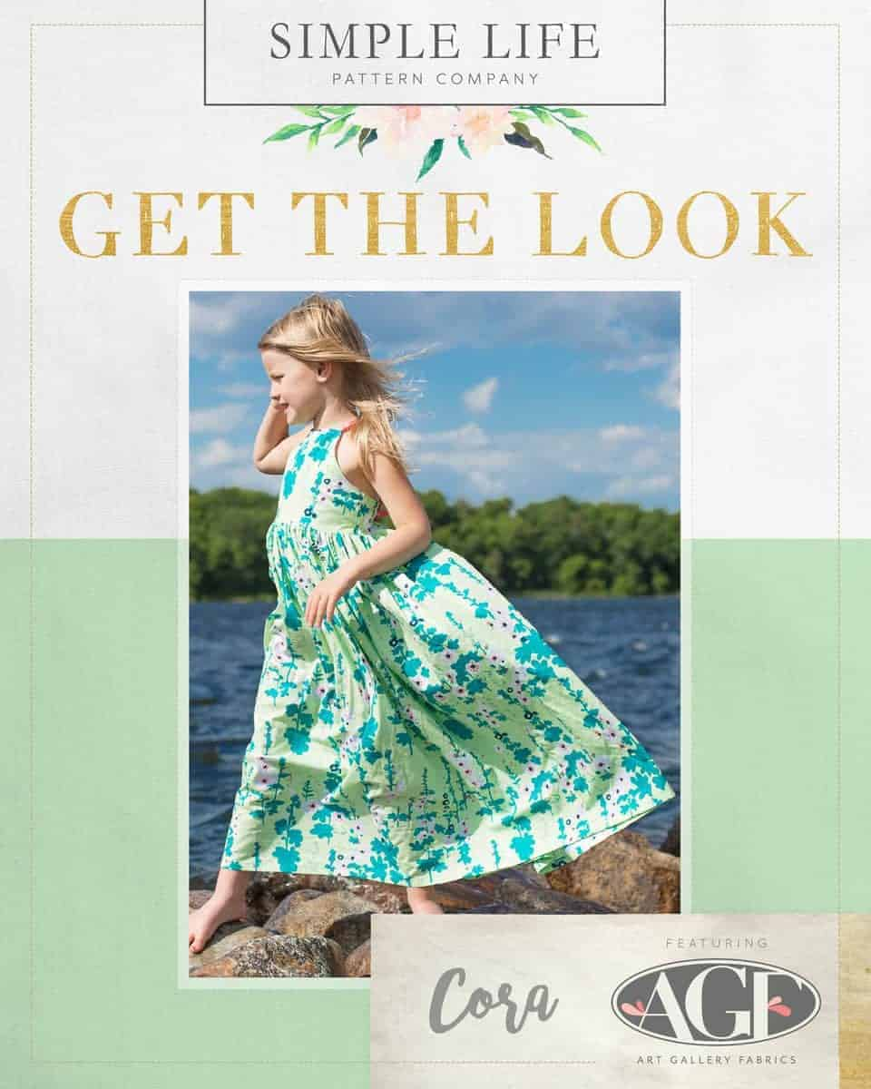 GET THE LOOK - Cora's Strappy Back Top, Dress OR Maxi. 2t-12. Coastline