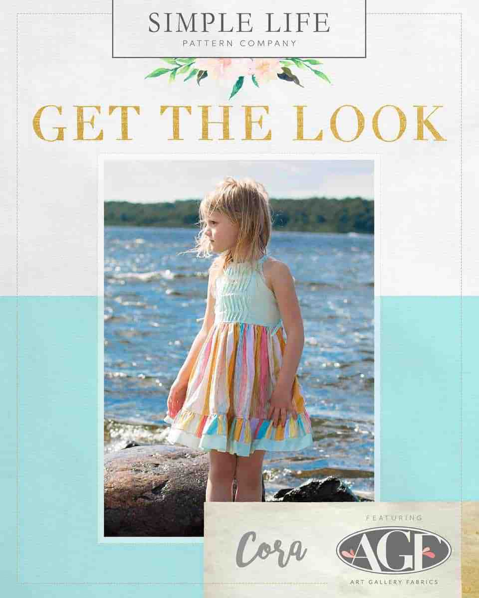 GET THE LOOK - Cora's Strappy Back Top, Dress OR Maxi. 2t-12. Chalk & Paint