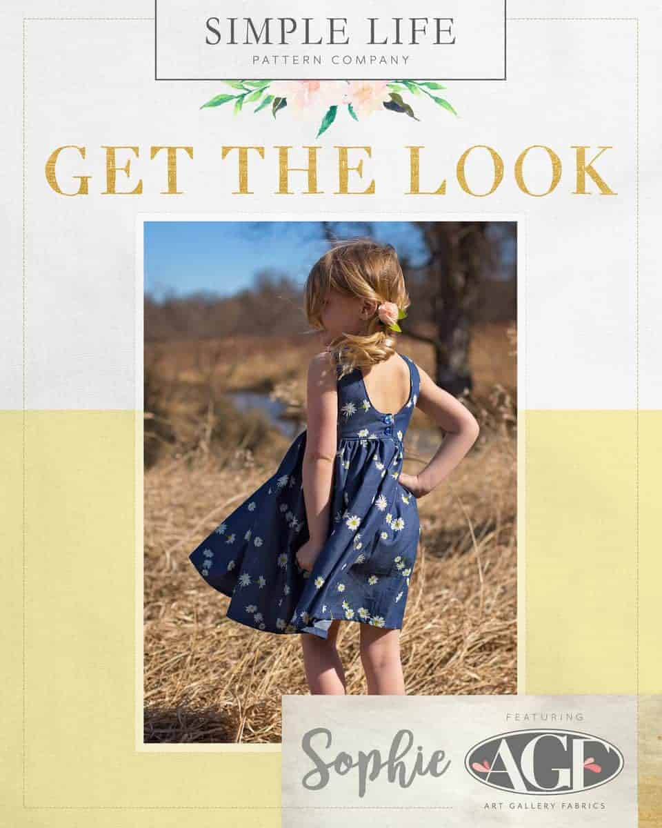 GET THE LOOK - Sophies V/scoop back Top OR dress. Sizes 2t-12. Denim