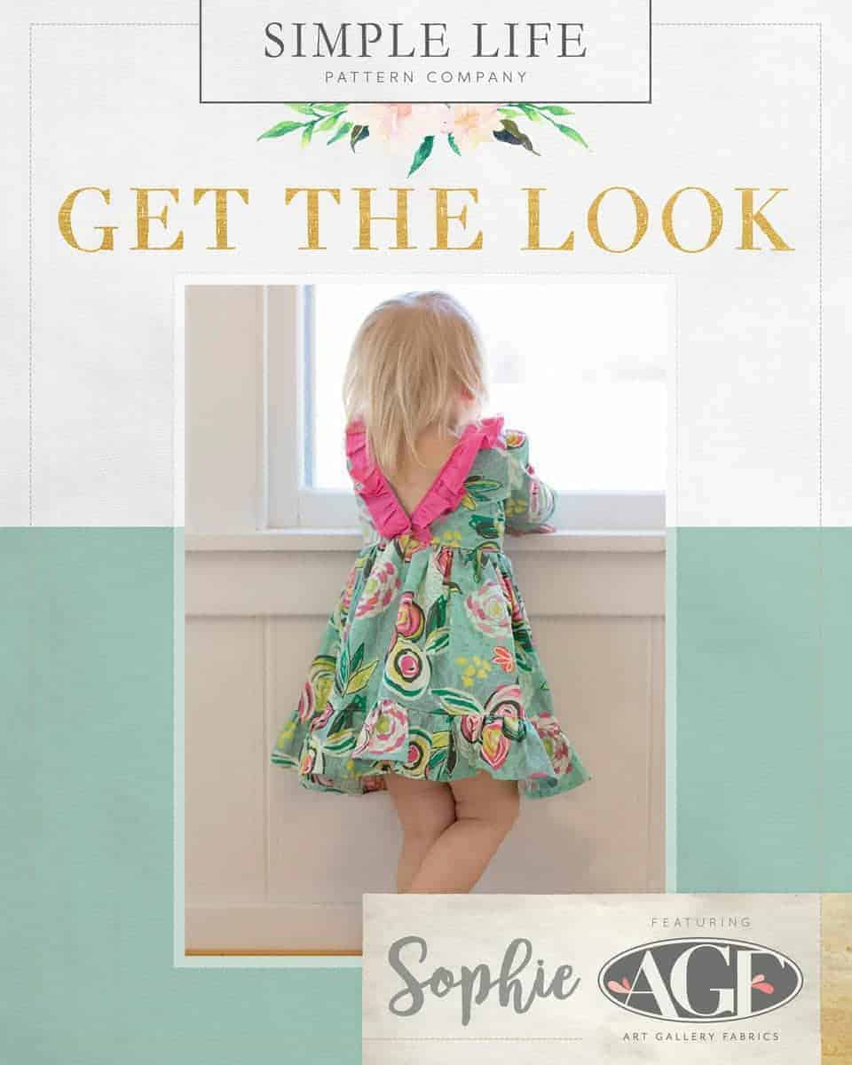 GET THE LOOK - Sophie's V/scoop back Top OR dress. Sizes 2t-12. Chalk & Paint