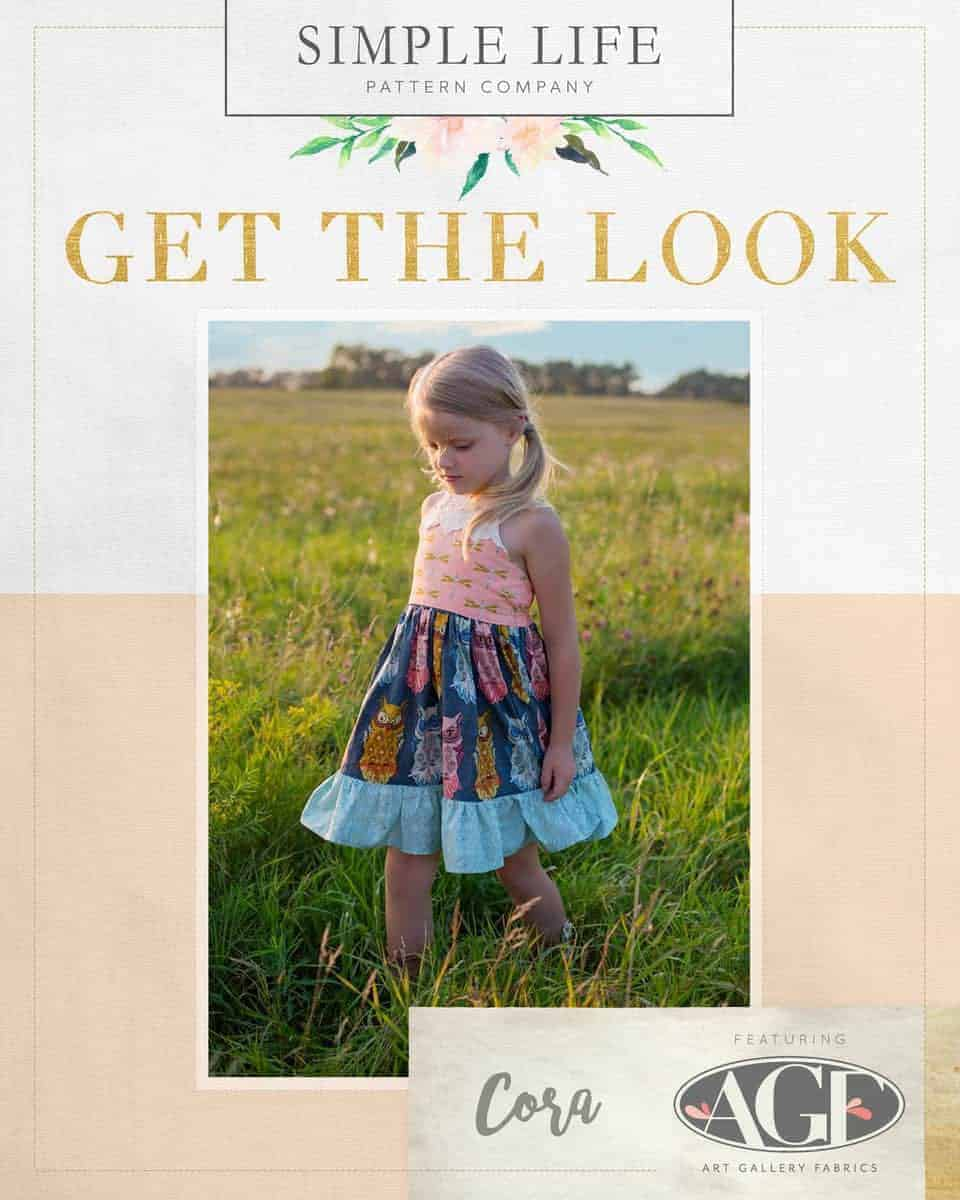 GET THE LOOK - Cora's Strappy Back Top, Dress OR Maxi. 2t-12. Nightfall