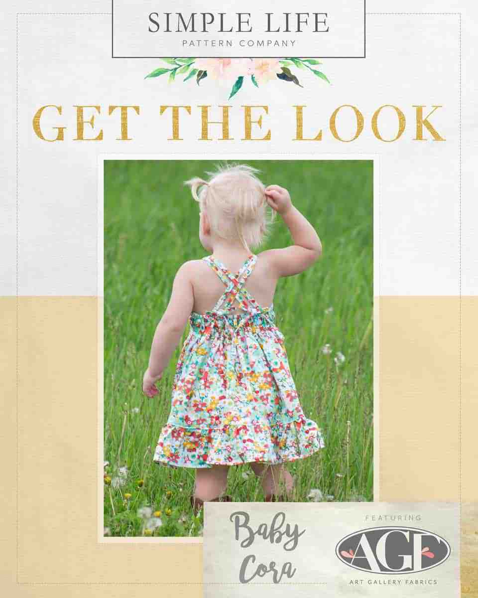 GET THE LOOK - Baby Cora's Strappy Back Top, Dress OR Maxi. NB-24 months. flowered medley