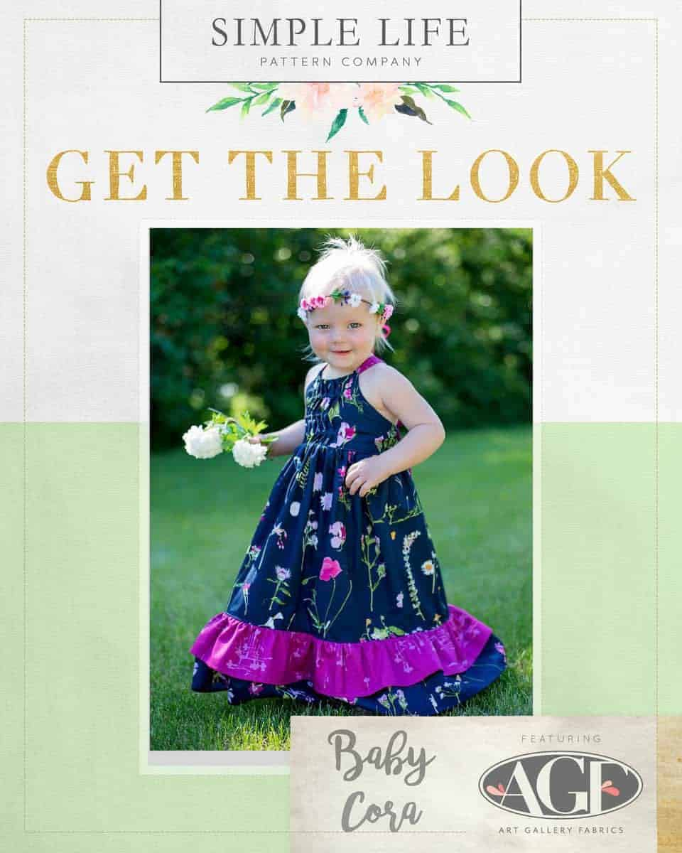 GET THE LOOK - Baby Cora's Strappy Back Top, Dress OR Maxi. NB-24 months. Petal Picking