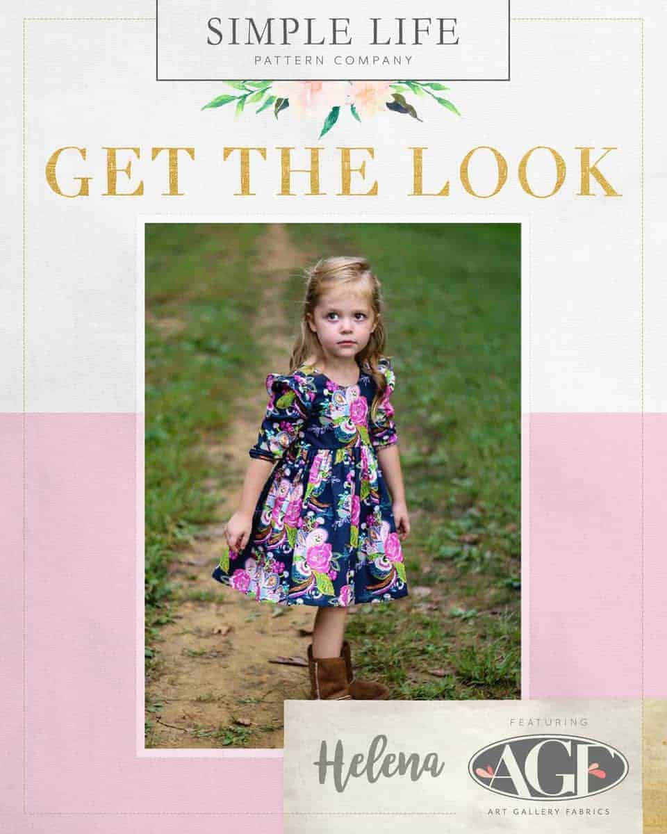 GET THE LOOK - Helena's Top &  Dress. 2t-12. Petal