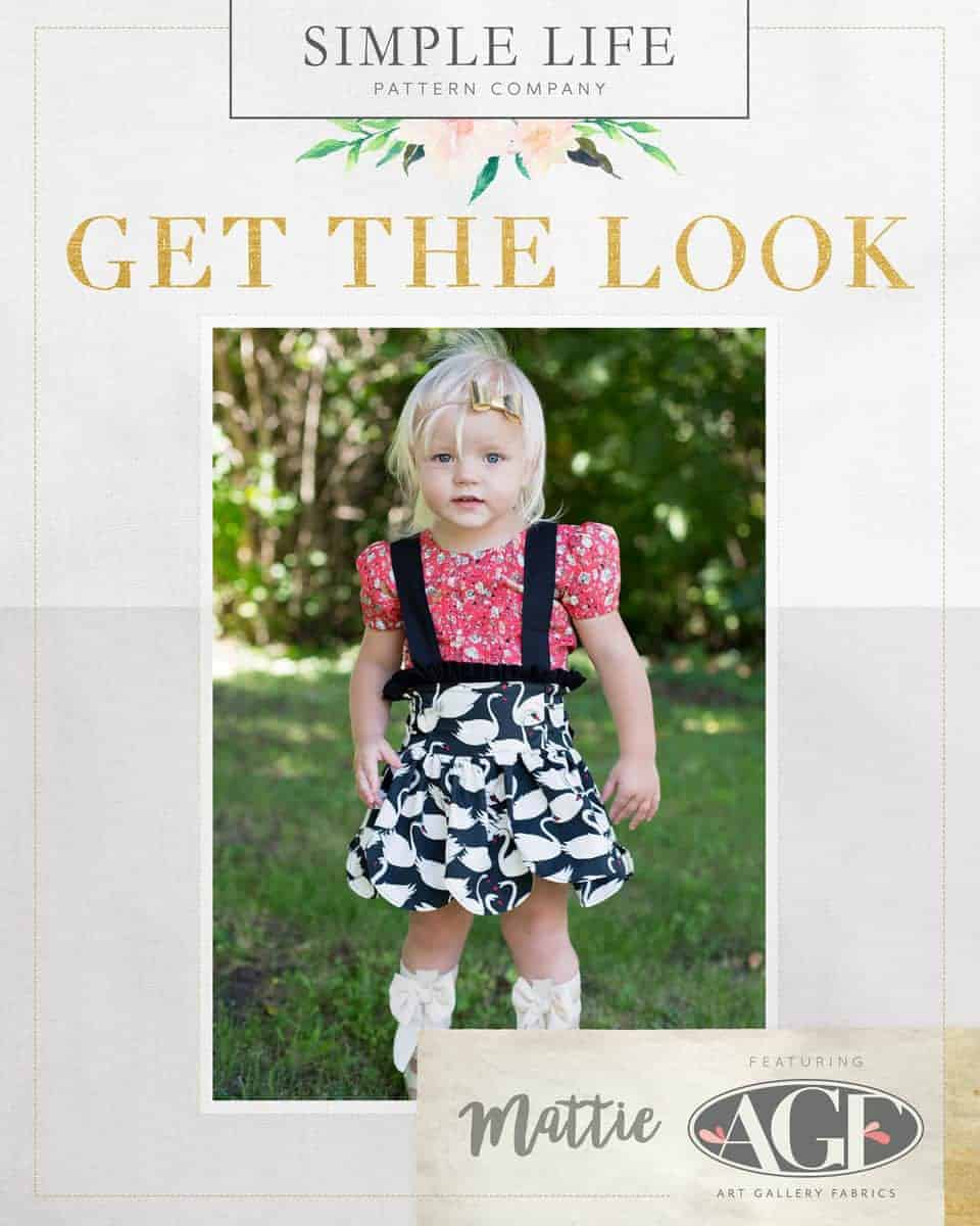 GET THE LOOK - Mattie's Scalloped Suspender Skirt. 2t-12. HOL black