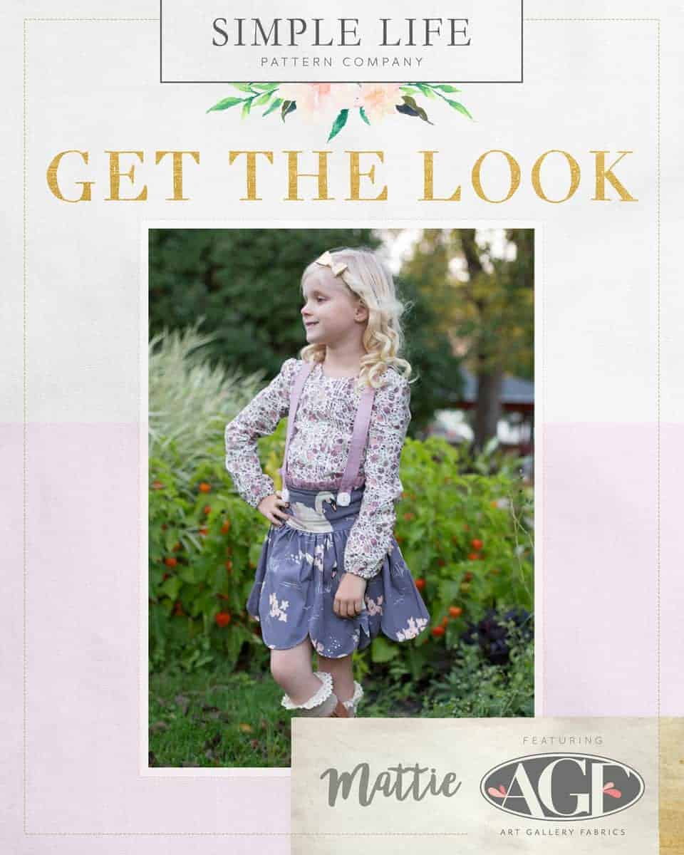 GET THE LOOK - Mattie's Scalloped Suspender Skirt. 2t-12. HOL purple swan