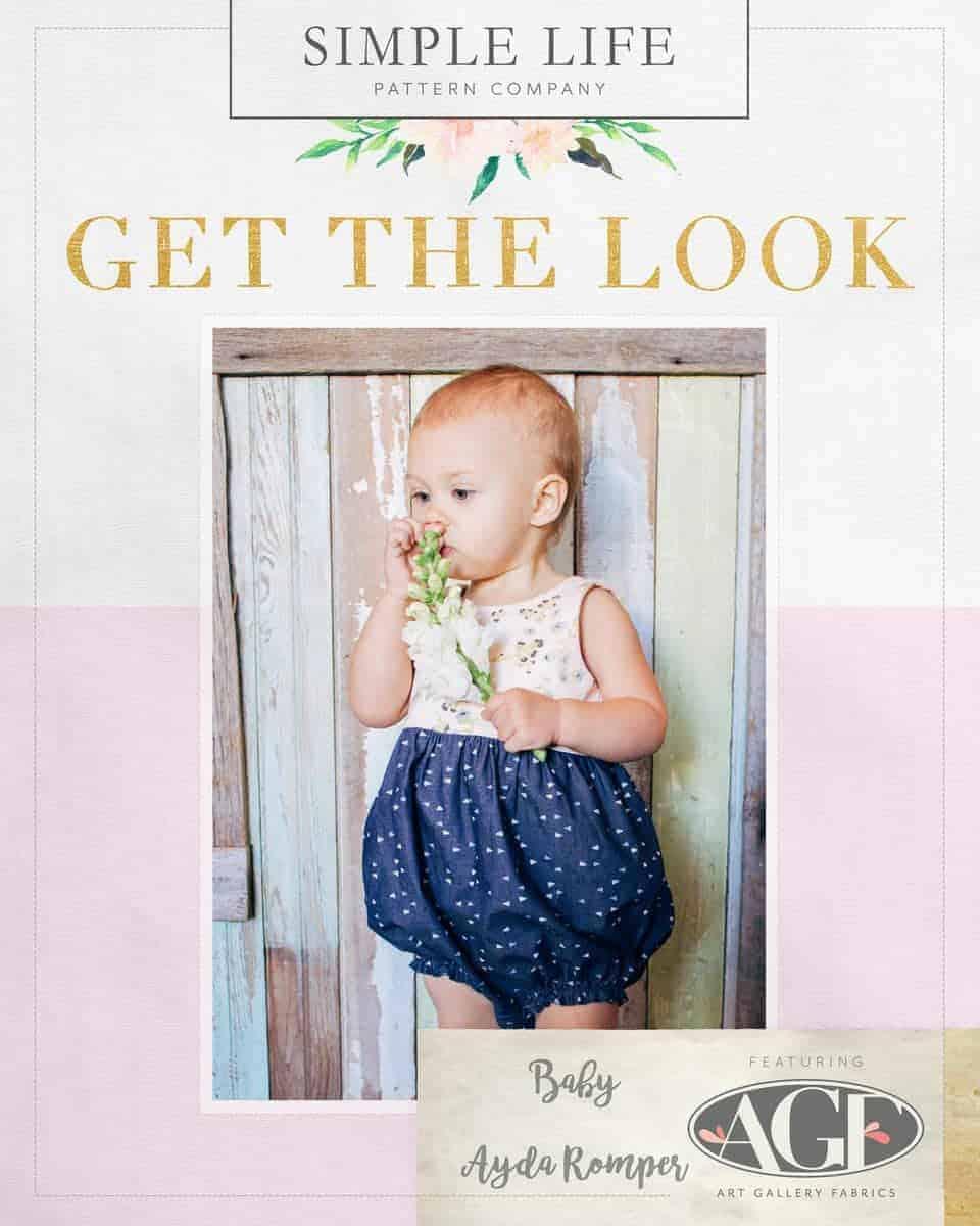 GET THE LOOK:  BABY Ayda's & Romper Add on.  Forest Floor
