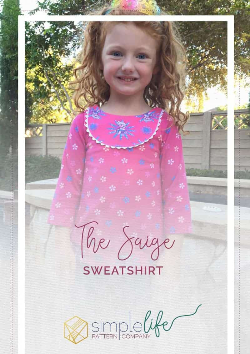 The Saige Sweatshirt | The Simple Life Pattern Company